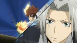 Colonnello vs Gokudera & Tsuna