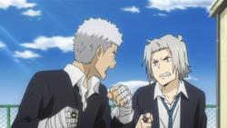 Ryohei and Goku argue