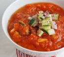 Mexican Shrimp Gazpacho with Cucumber and Tomatoes