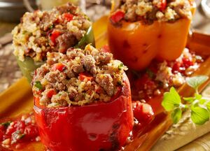 Italian Sausage and Quinoa Stuffed Pepper-