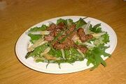 Herb Salad with Chicken Livers