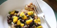 Fresh Mango and Black Bean Salad with Grilled Chicken