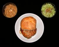 File:Chicken Burgers with Satay Sauce and Spicy Cucumber Relish.jpg