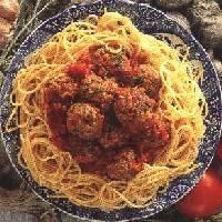 Mozzarella Meat Balls & Spagehetti