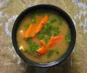 Miso Soup With Shiitake Mushrooms and Tofu