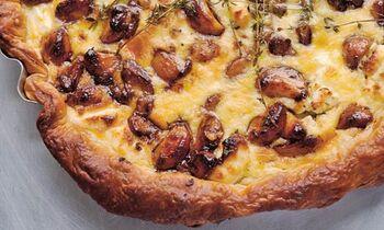 Garlic tart