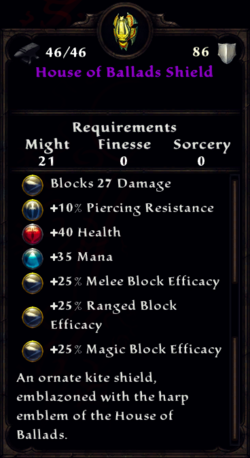 House of Ballads Shield Inventory