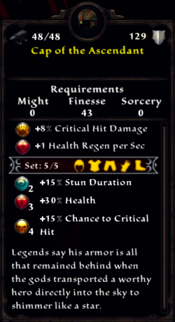 Cap of the Ascendant Inventory