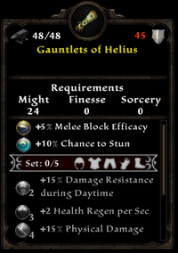 Gauntlets of helius