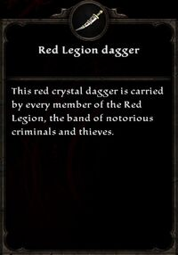 Red Legion Dagger