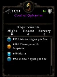 Cowl of ophanim