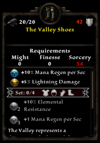 The valley shoes