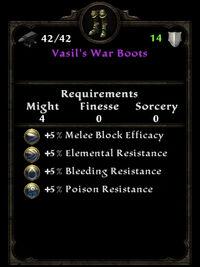 Vasil's war boots