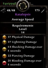 Katalepsis Weapon Detail