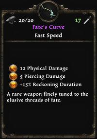 Fates curve