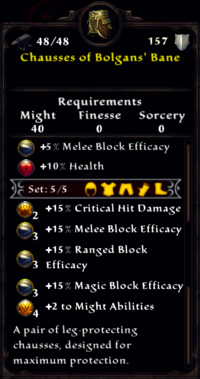 Chausses of Bolgan's Bane Inventory