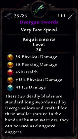Dvergan Swords Inventory