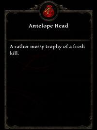 Antelope Head (Reprisal, Reprised)