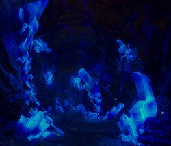 Dark glow caverns