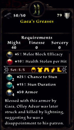 Gaea's Greaves Inventory