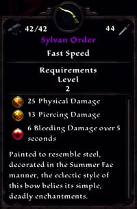 Sylvan Order Inventory