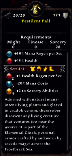 Pestilent Pall Inventory