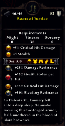 Boots of Justice Inventory