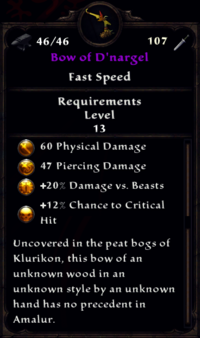 Bow of D'nargel Inventory