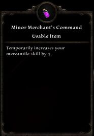 Minor Merchant's Command