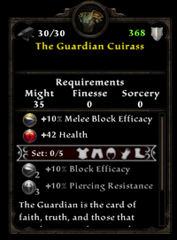 The guardian cuirass