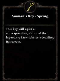 Amman's Key - Spring