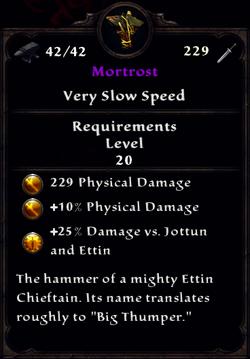 Mortrost Inventory