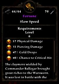 Fortune correct level