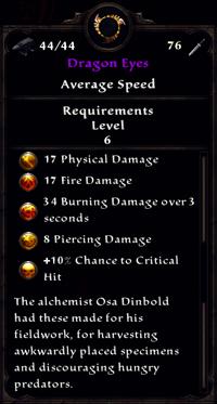 Dragon Eyes Inventory