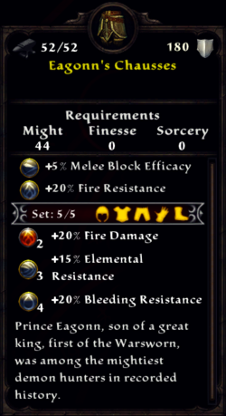 Eagonn's Chausses Inventory