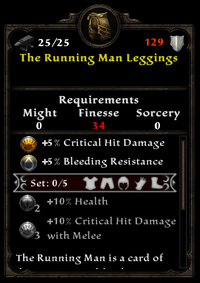 The running man leggings