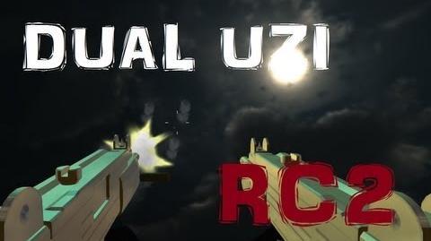 Dual Gold Uzi Red Crucible 2