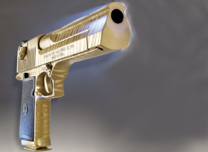 Golden-desert-eagle-pistol