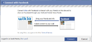 Wikia fb connect