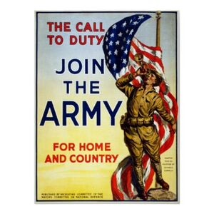 The call to duty join the army wwi poster-r686327a2a3bc4651af21d766885094e3 aisfi 400