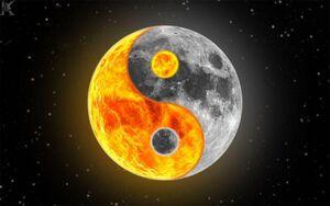 Sun moon yin yang
