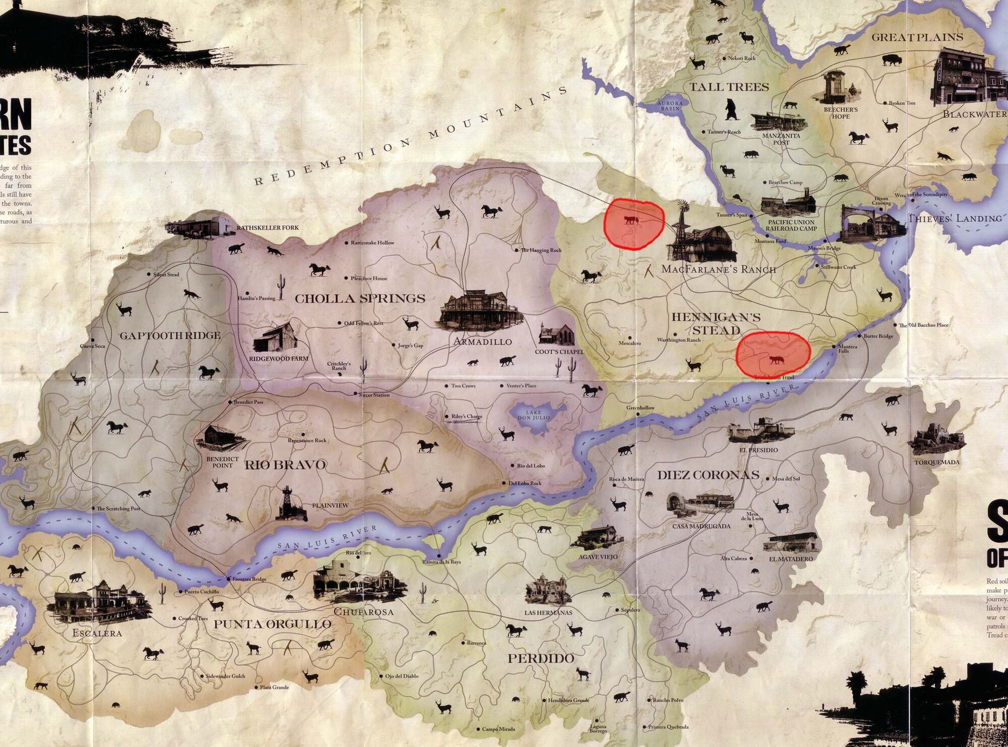 Image Coyote Locationjpg Red Dead Wiki FANDOM Powered By Wikia - Red dead redemption us marshal outfit map