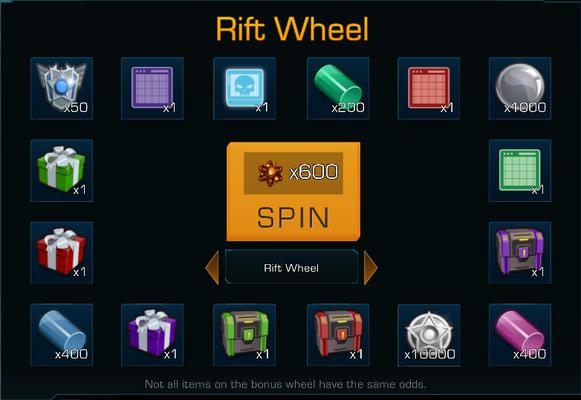 In-game screenshot of the Rift Wheel