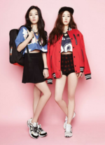Seulgi and Irene for Black Martines