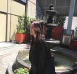 Irene by a waterfall