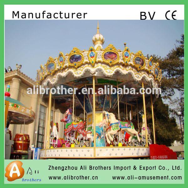 Amusement manufacturer amusement park carousel horses for