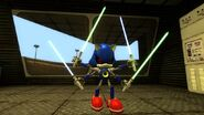 Four armed metal sonic lightsabers by cyothelion-d9uefpt