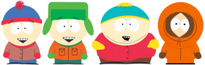 Stan, Kyle, Cartman, and Kenny