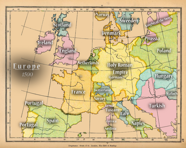 Europe - Old Map