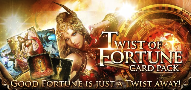 Twist of Fortune Card Pack Banner Page